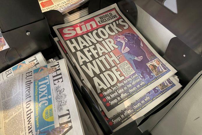 De affaire tussen voormalig gezondheidsminister Matt Hancock en zijn adviseur Gina Coladangelo wordt breed uitgemeten in de Britse pers.