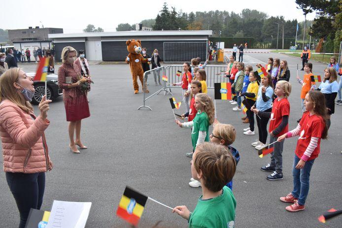 De kinderen van basisschool Klim-Op hadden een lied ingestudeerd.
