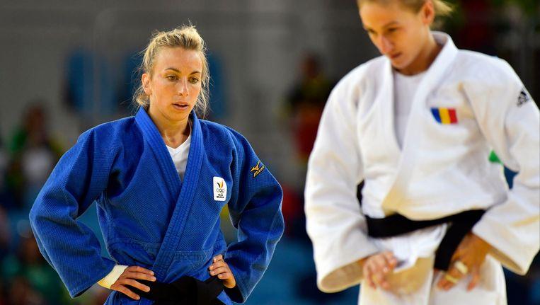Charline Van Snick (links). Beeld Photo News