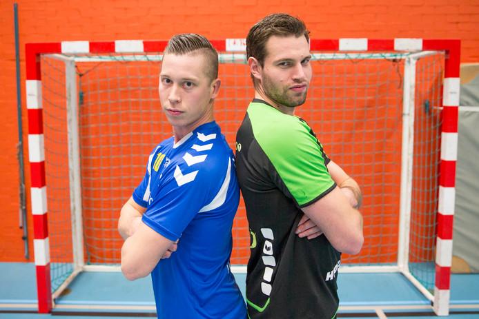 Kevin Meulmeester (links, Delta Sport/EMM) en Arno Riemens (Orion).