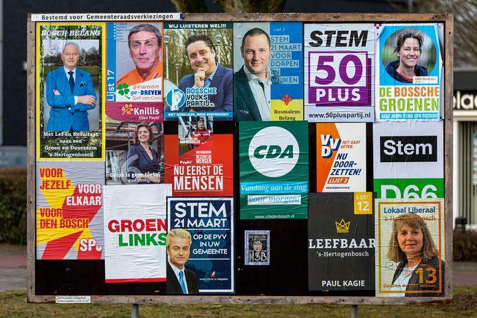 Verkiezingsbord Den Bosch.