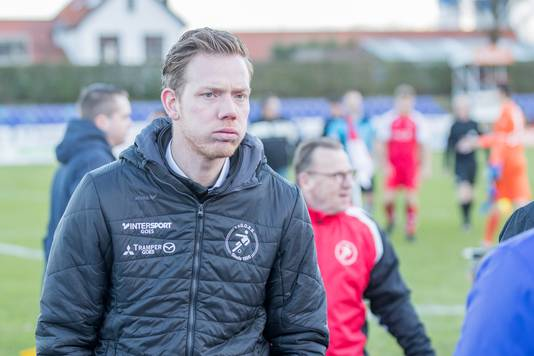 Trainer Rogier Veenstra zag Goes zondag een pijnlijke nederlaag lijden tegen degradatiekandidaat JVC Cuijk.