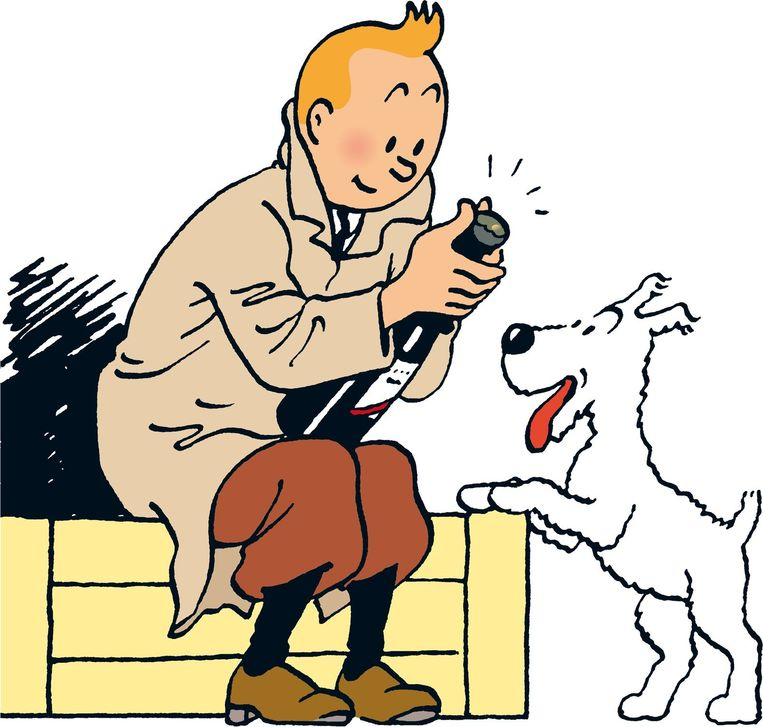 Kuifje en Bobby (archieffoto).