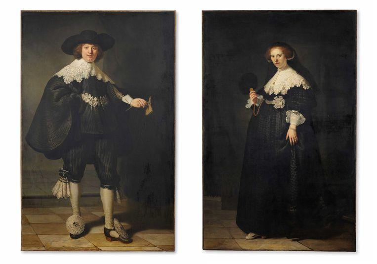 De potretten van Maerten Soolmans en Oopjen Coppit. Beeld epa
