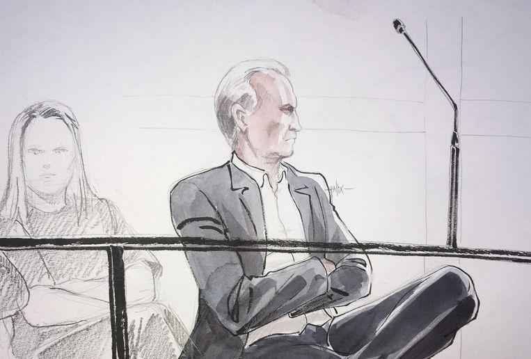 Een tekening van André Gyselbrecht. Beeld Palix