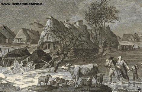 De dijkdoorbraak in de nacht van 4 op 5 februari 1799.