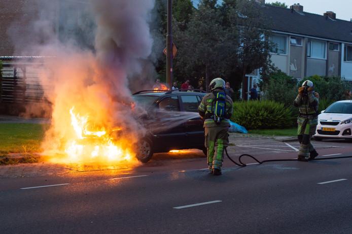 Rembrandtlaan Woerden autobrand