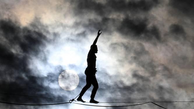 Record langste highline van België gesneuveld in Freÿr: 70 meter hoog en 770 meter lang