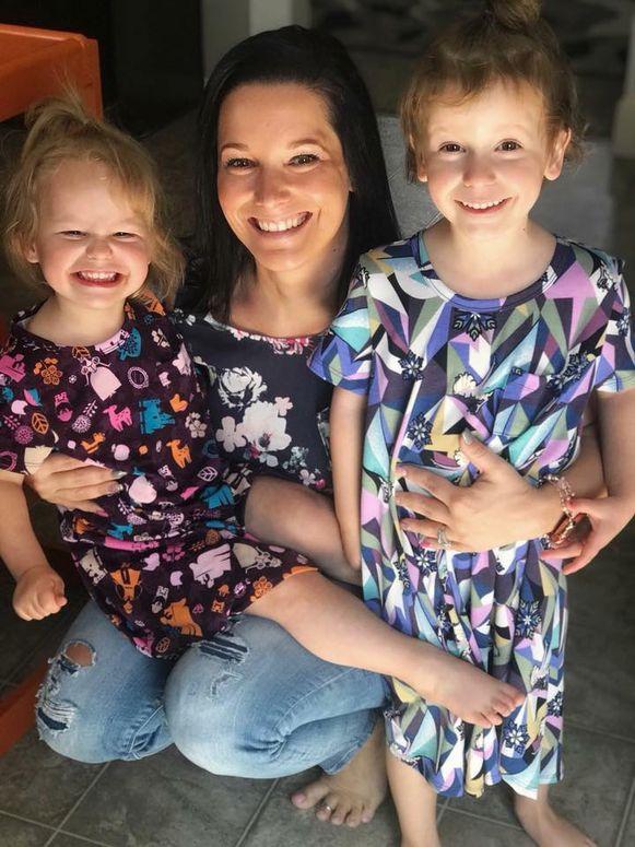 Shanann Watts en haar twee dochters.