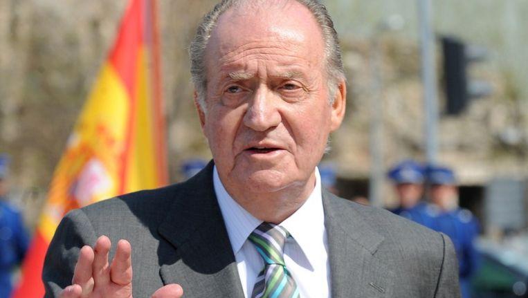 Koning Juan Carlos Beeld afp