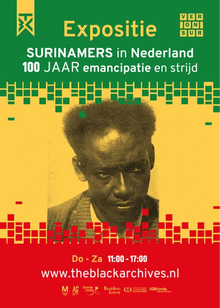 Hugo Olijfveldhuis te Amsterdam: de expositie 'Surinamers in Nederland 100 jaar emancipatie en strijd Beeld