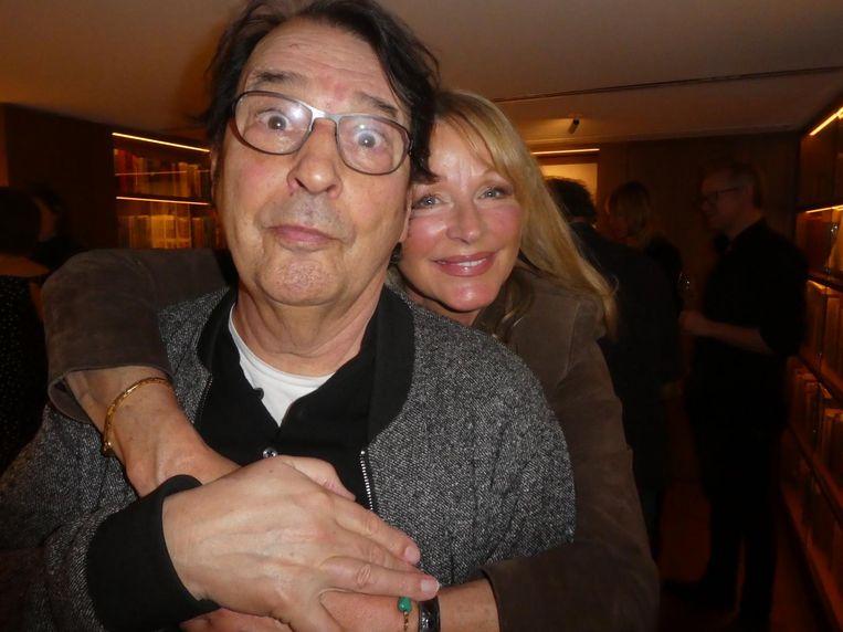 Muze Babette Cremer met journalist Rik Zaal. Cremer: 'Ik heb Rik nog in mijn dagboek staan.' Beeld Hans van der Beek