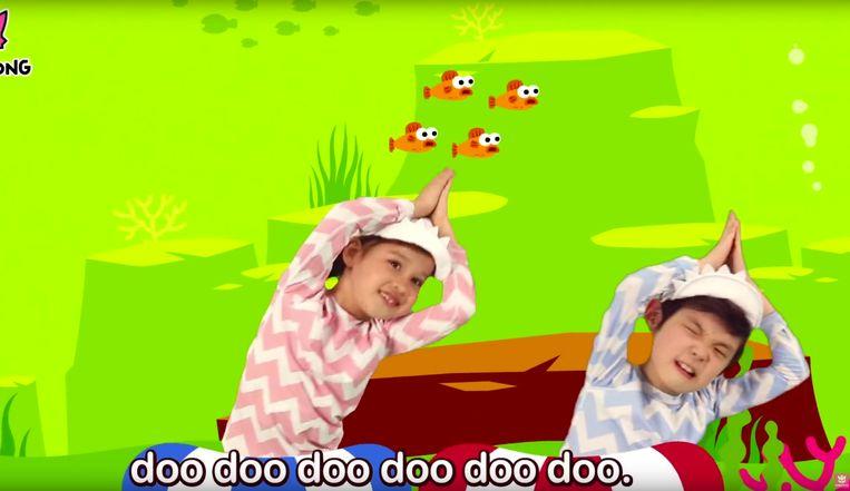 Het razend populaire kinderliedje 'Baby Shark'. Beeld rv