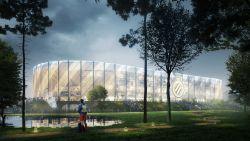 Een geperforeerde gevel, zwevende dakrand en videoschermen boven het veld: zo uniek wordt het nieuwe stadion van Club Brugge