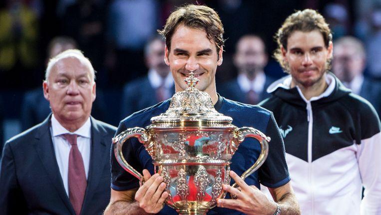 Roger Federer springt naar de tweede plek. Beeld EPA
