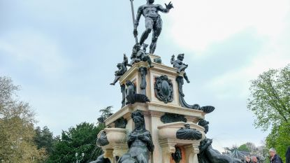 Na meer dan 50 jaar spuit de fontein aan Kasteel van Laken weer water