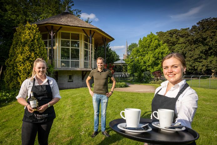 Pim van der Veen van 't Veerhuys gaat de theekoepel in Park Rams Woerthe nieuw leven inblazen.