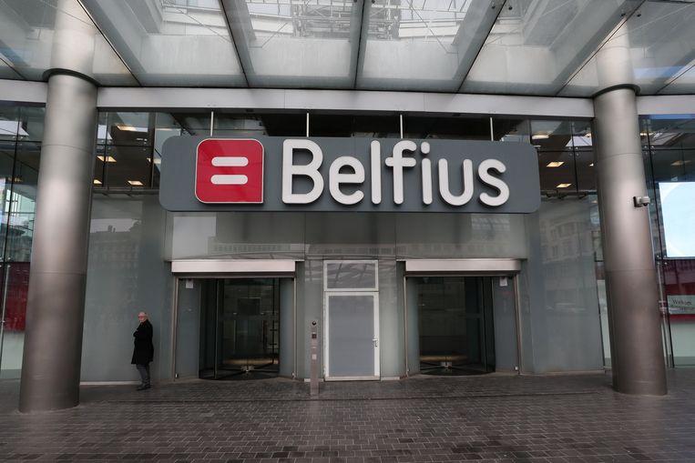 Het hoofdkwartier van Belfius in Brussel. Beeld REUTERS