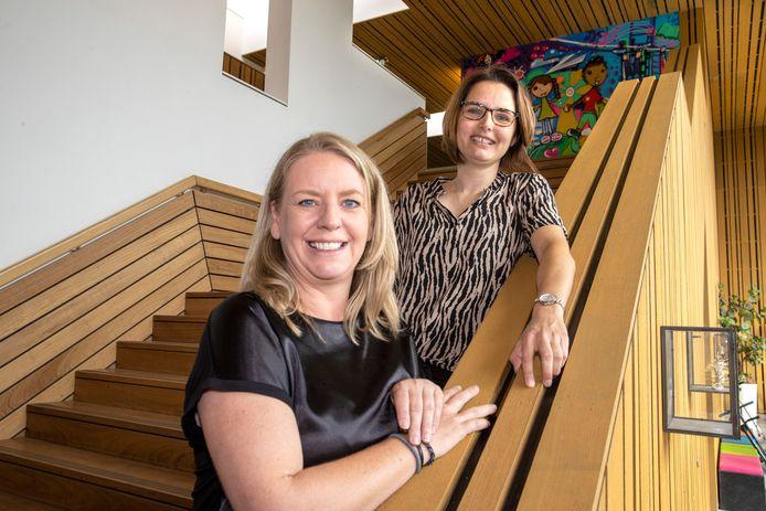 Nieuwe directeur Miriam van Montfoort en adjunct-directeur Susanne Nagelmaeker van basisschool De Boog.