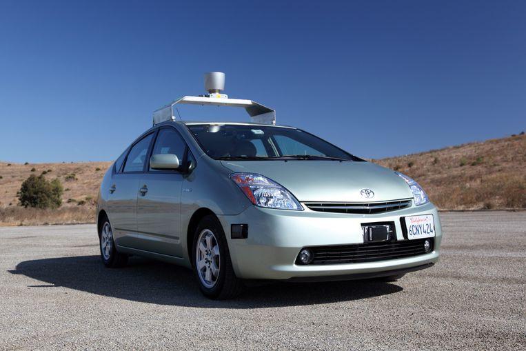 Google lanceerde in 2012 een vanzelf rijdende auto. Beeld EPA