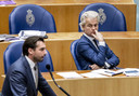 Geert Wilders (rechts) wil nieuwe verkiezingen.