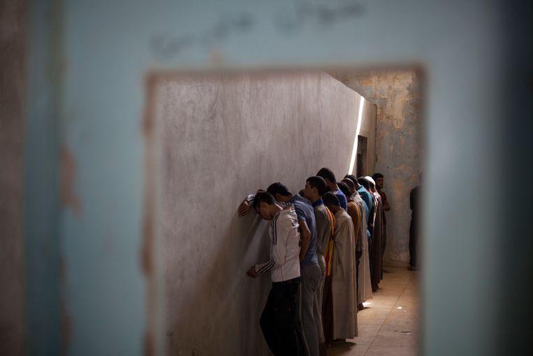 Archiefbeeld van een screeningcentrum in de Koerdische regio. Beeld AP