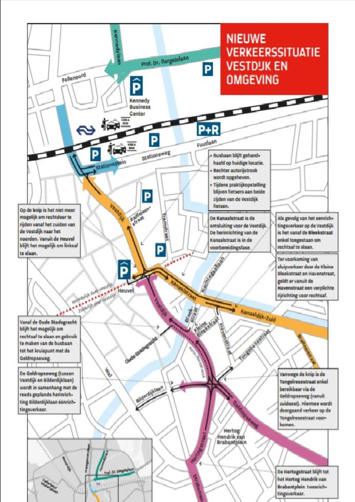 De maatregelen die genomen worden voor de zogenaamde Praktijkopstelling Vestdijk in Eindhoven.