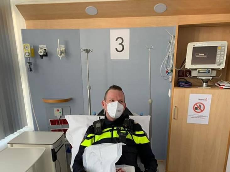 Agent slaat ruit in om gewonde vrouw te helpen en belandt zelf ook in ziekenhuis
