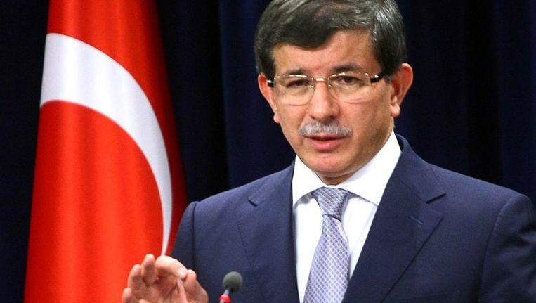 Turkse minister van Buitenlandse Zaken Ahmet Davutoglu. Beeld afp