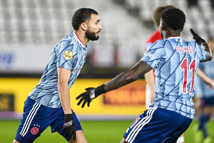 Zakaria Labyad viert de 0-1.