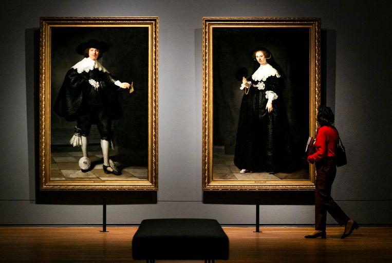 De schilderijen Marten & Oopjen van Rembrandt van Rijn in het Rijksmuseum.  Beeld ANP