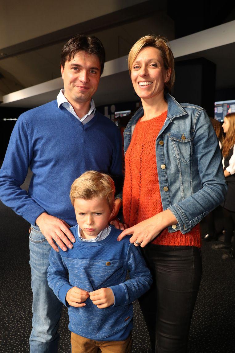 Annelies van Herck en Michael Van Droogenbroeck met hun zoon Jakob