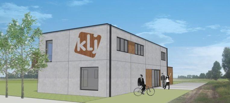 Simulatie van het nieuwe KLJ-gebouw aan de Dorpsvaart.