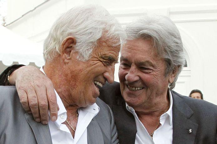 Alain Delon et Jean-Paul Belmondo en 2010.