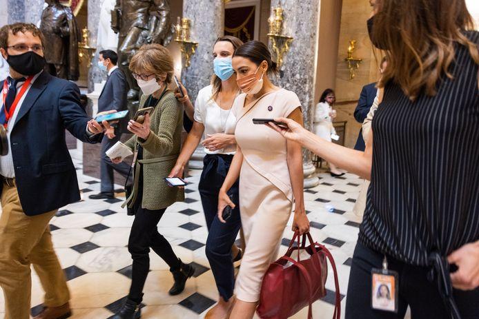 Alexandria Ocasio-Cortez in het Capitool.