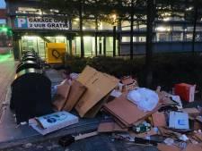 Container weggehaald: puinhoop bij milieuplein in Enschede