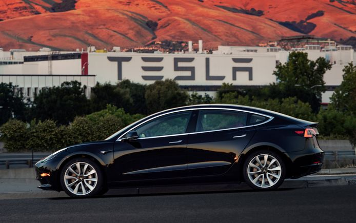 De nieuwe Tesla Model 3