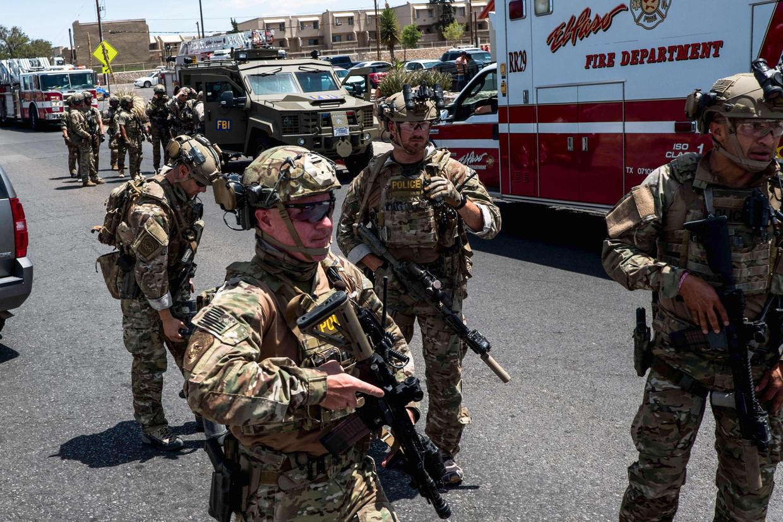 Militairen in El Paso. Beeld AFP