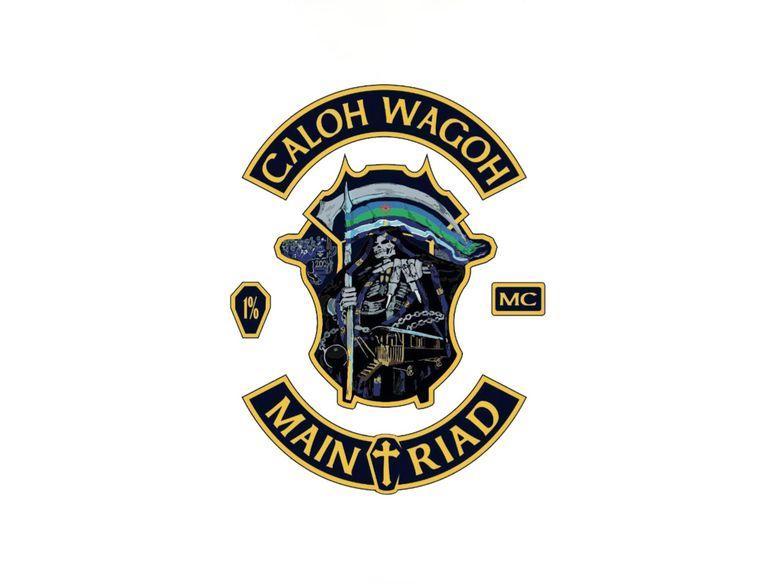 Het logo van motorclub Caloh Wagoh. Beeld PR
