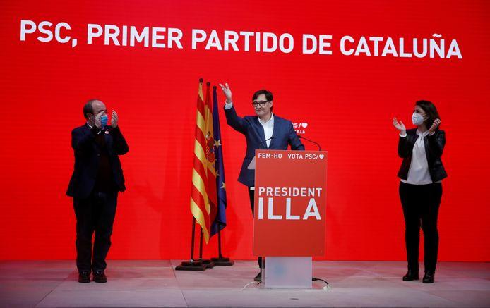 Salvador Illa kon van de PSC de grootste partij van Catalonië maken, maar kon niet verhinderen dat de separatisten de meerderheid behielden.