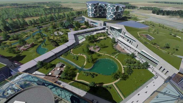 Impressie van de campus van Lithium Werks, zoals die op 3 september werd gepresenteerd.