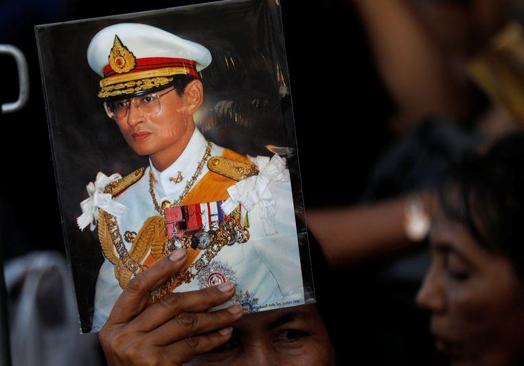 Een beeld van de overleden Thaise koning Bhumibol Adulyadej