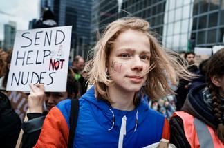 """fotoreeks over Enkele sfeerbeelden van de """"Global Strike for Future"""""""