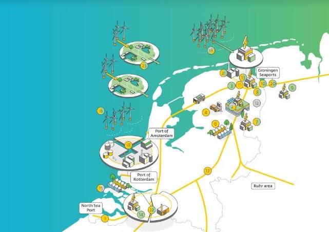 Gasunie schakelt tussen nu en 2050 over op waterstof. Het gasbedrijf maakt op weg daarheen een routekaart; die vermeldt 22 projecten, waaronder waterstofproductielocaties bij windenergieparken op zee.