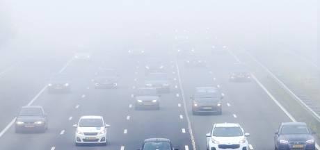 Code geel in noordelijke provincies door dichte mist