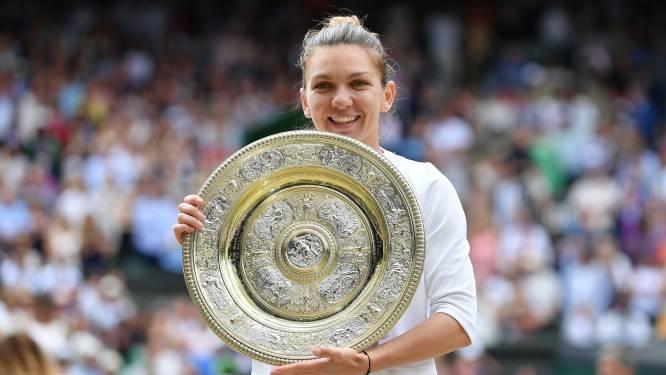 Indrukwekkende Halep klopt Serena Williams in finale en pakt eerste Wimbledon-trofee