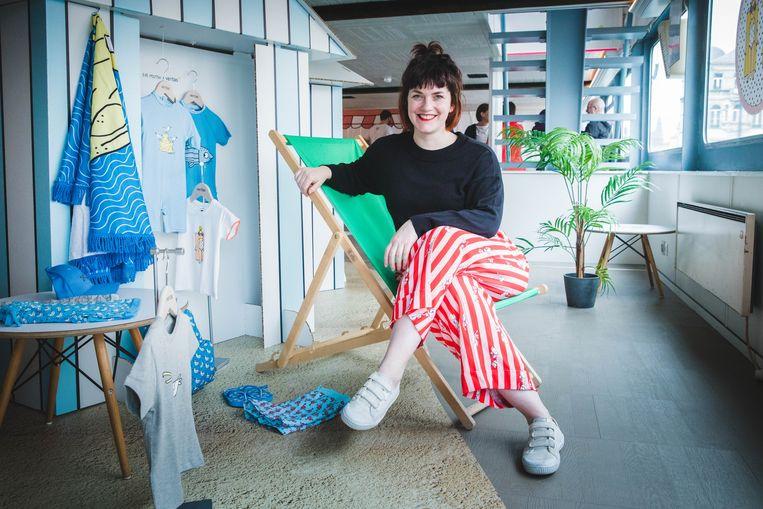 Eva Mouton stelt haar kledinglijn voor.