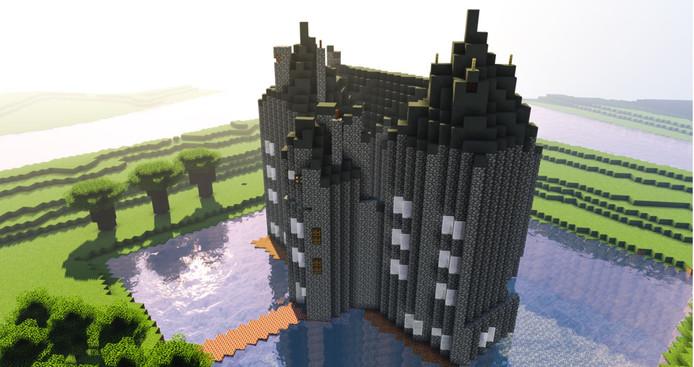 Minecraftliefhebbers kunnen aan de slag met de contouren van Slot Loevestein.