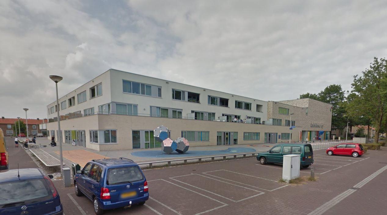 Een deel van gebouw Caleidoscoop in Vlijmen.