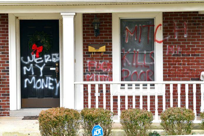 Het huis van Senaatsleider Mitch McConnell in Louisville, Kentucky.